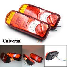 1Pair 24V Truck Boat LED Trailer Lights Stop Reverse Indicator Fog Light Lamps