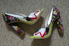 "$570 Sophia Webster ""Party like Pollock"" PVC/satin peeptoe heels 37.5 UK 4.5 new"
