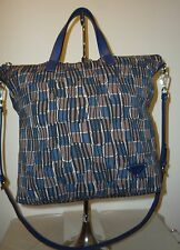 REDUCED $200 Authentic Navy Black and Brown Multi PRADA Tote Shopper Shoulderbag