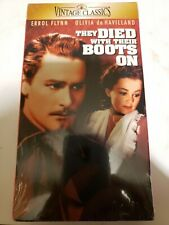 Errol Flynn They died with their Boots on VHS sealed Brand new