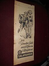 original Werbung Reklame Annonce Salamander Schuhe  ca. 40er jahre