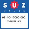 63110-17C00-000 Suzuki Fender,rr lwr 6311017C00000, New Genuine OEM Part