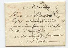 MARQUE POSTALE / TOULON SUR MER / PARIS 1827