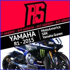 Kit Adesivi YAMAHA R1 - R1M MOTOAMERICA AMA GRAVES MONSTER 2015 SUPERBIKE Decals