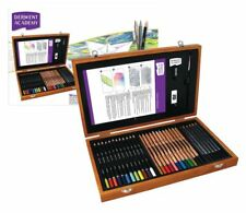 Derwent Academy de Madera Set Caja De Regalo De Color Lápices & accesorios de arte