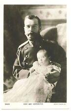 Russia 1916 Royalty Russian Czar Nicholas II and his son Alexei the Czarewitch R