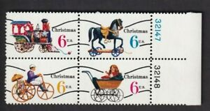 CHRISTMAS TOYS U.S.Postage Vintage Stamps Block Of 4  MNH  1415 - 1418 1970 year