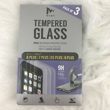 MVMT Tempered Glass Pro Screen Protection IPhone 7/8 Plus  6/6S Plus 3 Pack