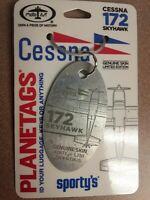 Bare Metal Cessna 172 Plane Tag / Planetags