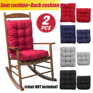 2 Pcs Chair Pad Mat Breathable Rocking Chairs Recliner Seat Back Cushion Garden