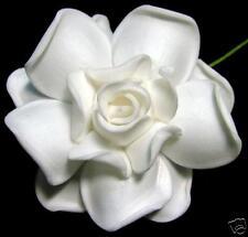 "3"" FOAM GARDENIA FLOWER Wedding Bridal HAIR CLIP WHITE"