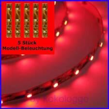 S334 - 5 Piece LED Lighting Per 2in Red SMD Leds Model Lighting Houses