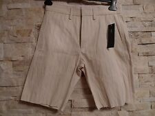 MARC BY MARC JACOBS MENS STRIPED UNHEMMED  SHORTS SIZE 28
