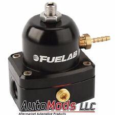 Fuelab MINI Fuel Pressure Regulator adjustable FPR -6 in out Fuel Lab Blk 53501