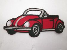 Red Volkswagon Convertible Embroidered Iron On Patch