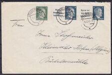 DR ZD W 151, W 152, 783 MiF Fernbrief, Düsseldorf - Kleinweiler 06.06.1943