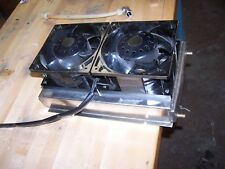 "1/4"" x  3"" x 9"" X 15""  WATER TO AIR HEAT EXCHANGER  ALL STAINLESS FANS 120VAC"