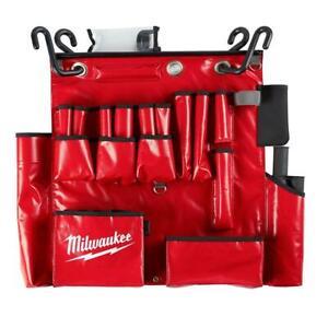 Milwaukee Lineman's Aerial Tool Apron 25 Pockets Storage Large Tool Holder Vinyl