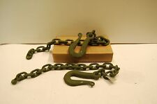 """TRAILER SAFETY CHAINS CM HOOK 7339460 ,  11636654-4 35.5"""" LONG LOT OF 2 NEW"""