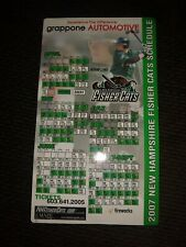 2007 New Hampshire Fisher Cats  Season Magnetic Schedule Adam Lind