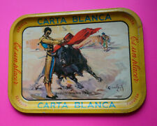 Mexican vintage Cuauhtemoc Carta Blanca Beer tray bullfighter MANOLETE 1940s