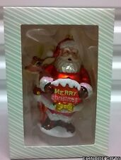 Extra Extra Merry Christmas Santa and Reindeer Ornament