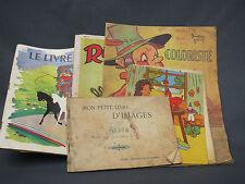 Lote de libros antiguos para niñas para colorear Dedo meñique Cibonette Cromos