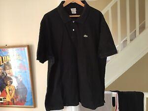 Mens Lacoste Polo Shirt - 9 - Black