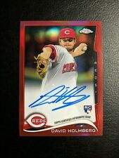 David Holmberg Rookie Auto RC | 2014 Topps Chrome | Red Parallel | /25 | Reds