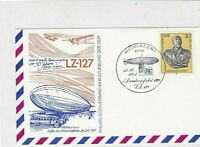 Germany 1981 Zeppelin LZ-127 Airship over Building Slogan  Stamps Card Ref 24010