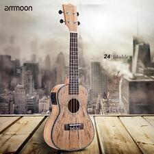 "ammoon 24"" Deadwood(Rare Material)Ukulele Hawaii Guitar with LED EQ W4J9"