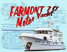 Model Boat Plan RADIO CONTROL Scale 1:30 Motor YACHT full size Printed Plans