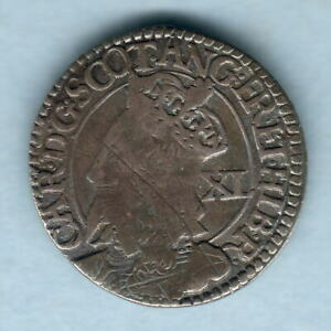 Scotland. 1637-42 Charles 1 - 40 Pence..  F over reverse crown..  F/F+