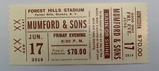 Mumford And & Sons Collectible Ticket Forest Hills Queens NYC NY June 17 2016