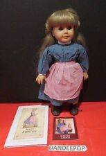 "American Girl Doll Meet Kirsten Larson 18"" Doll With Book Pleasant Co Retired"