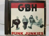 G.B.H. GBH: PUNK JUNKIES PROMO CD! [1997 WE BITE RECORDS] NEAR MINT!