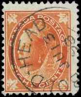 Canada #72 used F 1897 Queen Victoria 8c orange Maple Leaf SON CDS CV$7.50