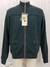 Beretta Men's Large Long Zip Wool Blend Shooting Hunting Sweater Windproof New