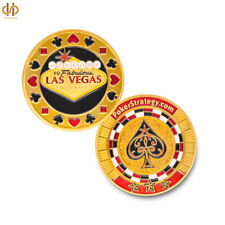 Welcome To Nevada Las Vegas Poker Chip Pokerstrategy Casino Gold US Coin Collect