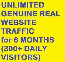 UN-LIMITED Genuine Real Website T-R-A-F-F-I-C for 6 months(300+ DAILY TRA-FFIC)