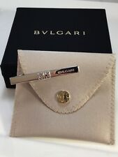 BULGARI 925 SILVER PARENTHESIS SUPER COOL TIE CLIP WITH BOX/POUCH MINTY