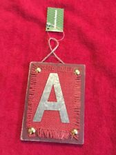 "Ganz Rustic Christmas Initial Ornament ""A"" Metal & Wood New Initial Monogram"
