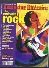 MAGAZINE LITTERAIRE N°404  2001  LES ECRIVAINS ROCK
