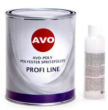 Spritzspachtel Spritzfüller Grundierung Autolack grau 1,5Kg + Härter AVO A010415