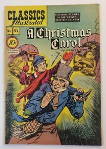 Classics Illustrated #53: A Christmas Carol By Charles Dicke1st Edition 1948 VF+