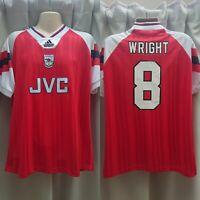 Retro Arsenal Home Football Shirt 92/93 Ian Wright 8 L