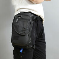 Men's Waterproof Waist Pack Drop Leg Bag Travel Hiking Hip Bag Motorcycle Pouch