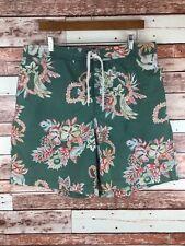 Ralph Lauren Polo Sport Hawaiian Floral Tiki Swim Trunks Board Shorts Size XL