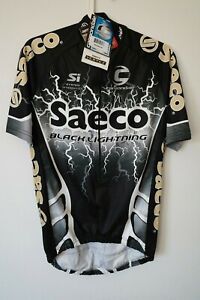 Cannondale Saeco Black Lightning jersey Medium new with tags caad7