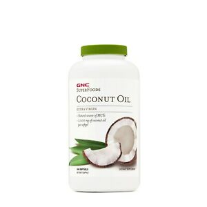 GNC Superfoods Coconut Oil Extra Virgin Dietary Supplement, 240 Softgels